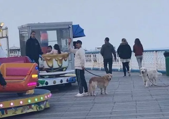 Crocked Alexis Sanchez takes dogs to Llandudno Pier in Wales as speculation mounts over Man Utd future